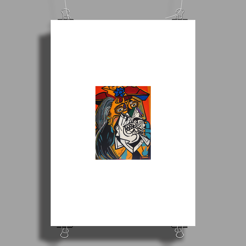 NEW  THE WEEPER  PICASSO BY NORA Poster Print (Portrait)