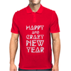 New Year 2016 Christmas Is Happiness Mens Polo