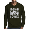 New Years Eve 2016 Give Peace A Chance Mens Hoodie