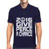 New Years Eve 2016 Give Peace A Chance Mens Polo