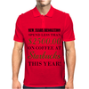NEW YEARS RESOLUTION Mens Polo