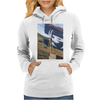 new york city harlem stone wall painting retro look Womens Hoodie