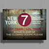 new york city subway 7 train nyc stand clear of the closing doors please Poster Print (Landscape)