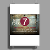 new york city subway 7 train nyc stand clear of the closing doors please Poster Print (Portrait)