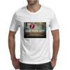 new york city subway 7 train stand clear of the closing doors please Mens T-Shirt