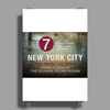 new york city subway 7 train stand clear of the closing doors please Poster Print (Portrait)
