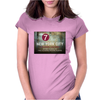 new york city subway 7 train stand clear of the closing doors please Womens Fitted T-Shirt