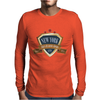 new york since 1664 that city never sleeps red stars retro Mens Long Sleeve T-Shirt