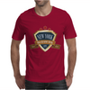new york since 1664 that city never sleeps red stars retro Mens T-Shirt