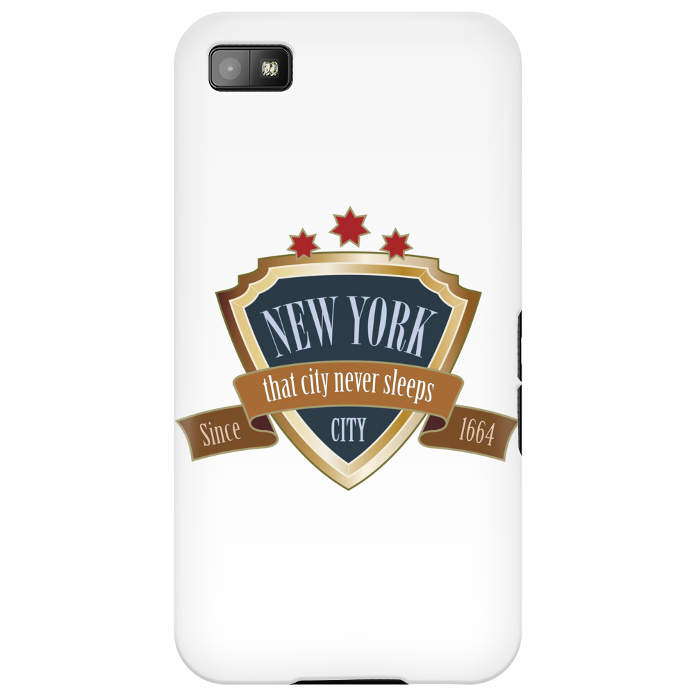 new york since 1664 that city never sleeps red stars retro Phone Case