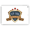 new york since 1664 that city never sleeps red stars retro Tablet
