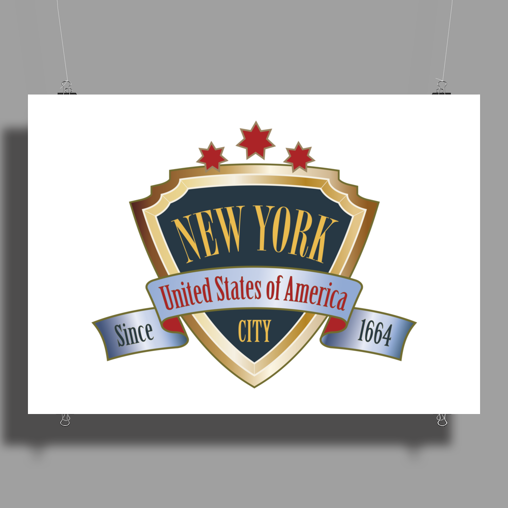 NEW YORK United States of America Big Apple NYC Poster Print (Landscape)
