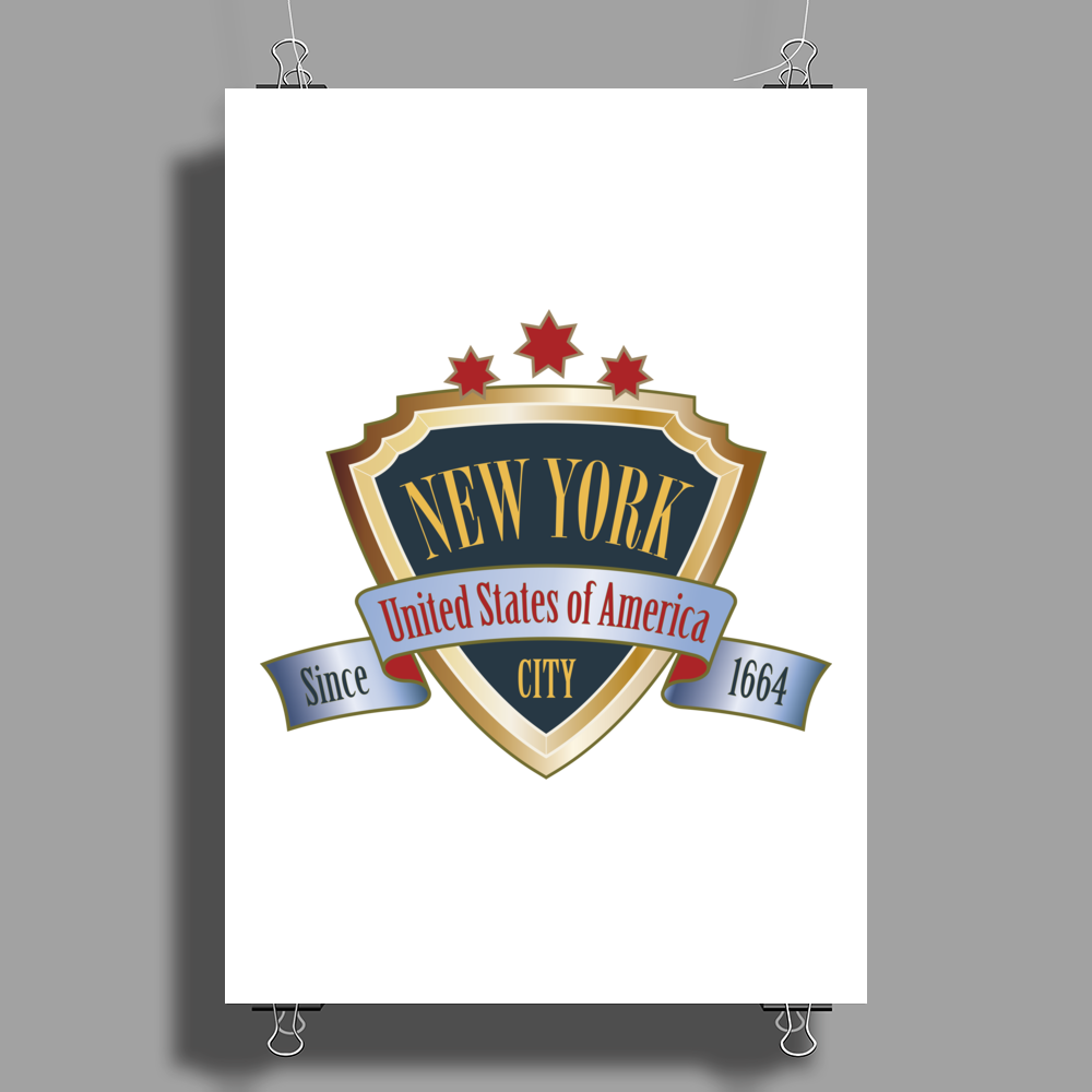 NEW YORK United States of America Big Apple NYC Poster Print (Portrait)