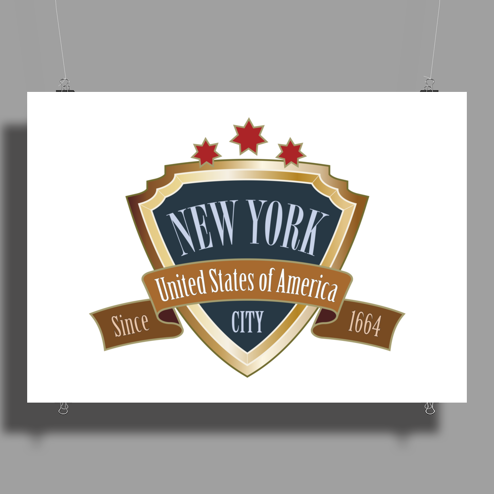NEW YORK United States of America Big Apple NYC retro Poster Print (Landscape)