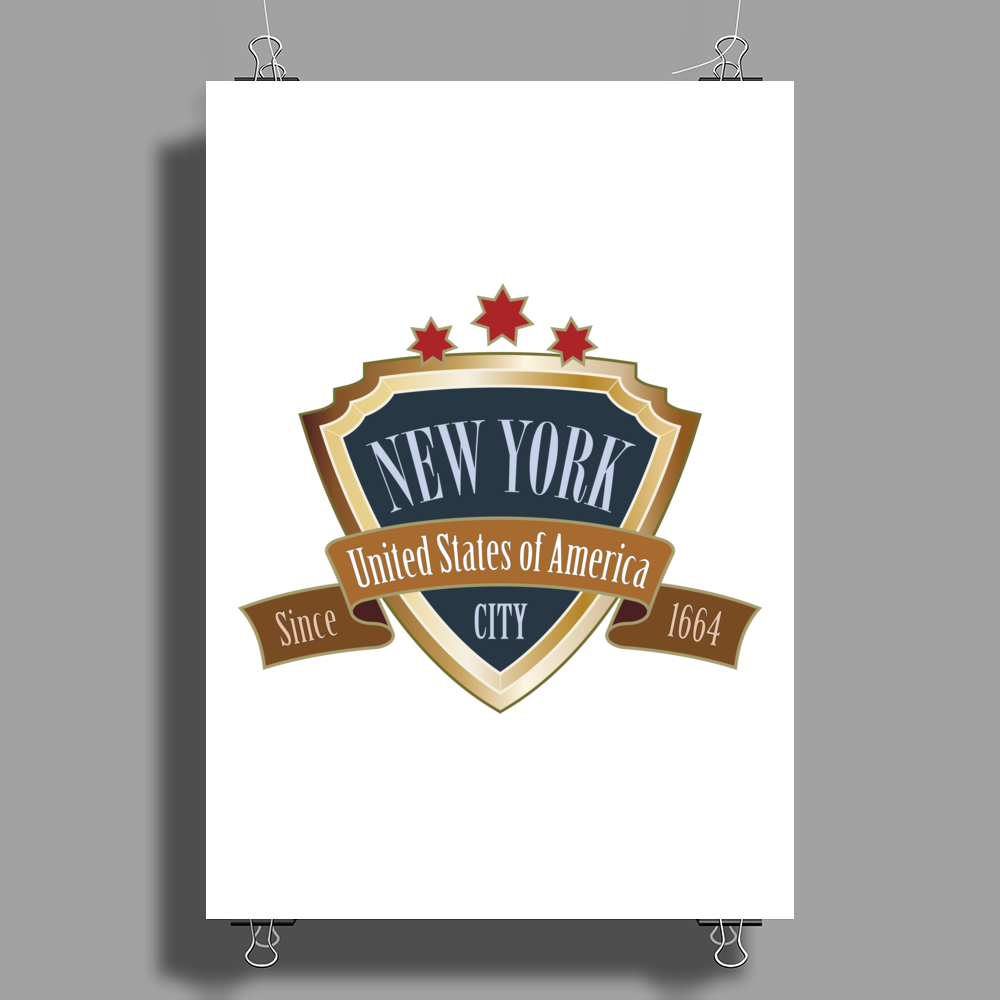 NEW YORK United States of America Big Apple NYC retro Poster Print (Portrait)