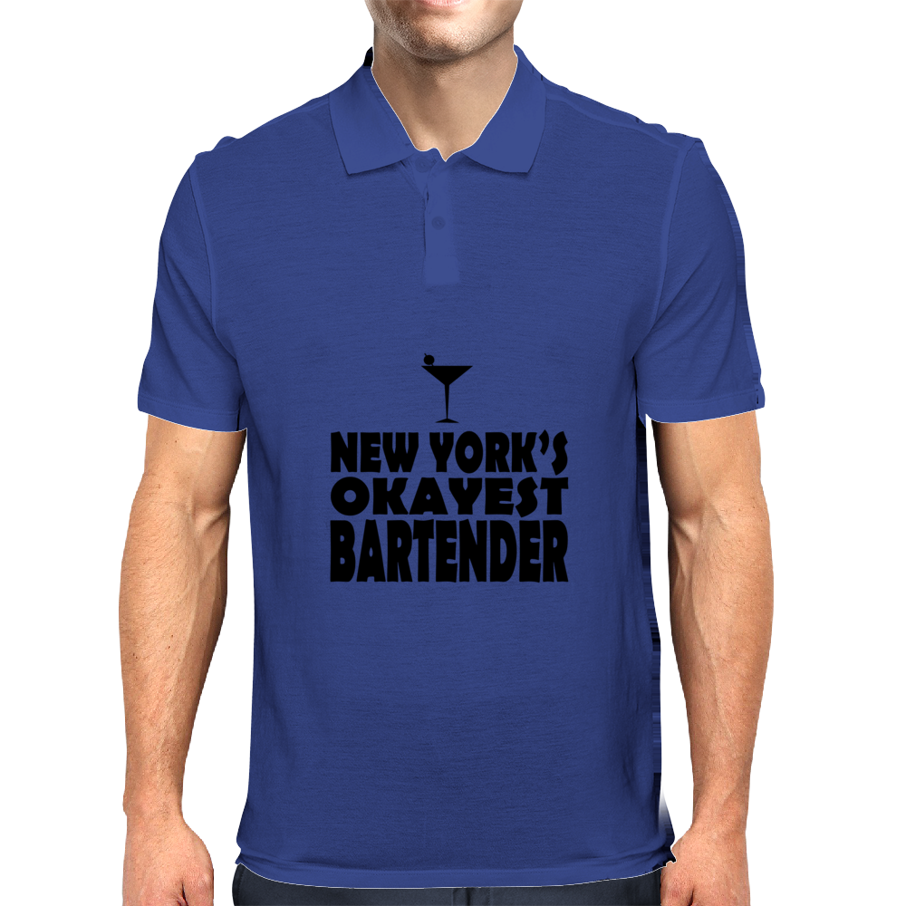 NEW YORK'S OKAYEST BARTENDER Mens Polo