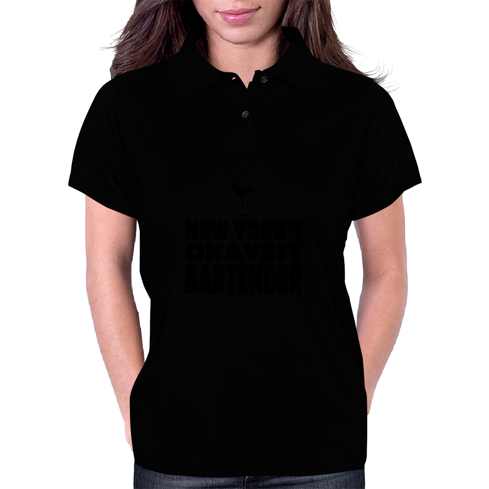 NEW YORK'S OKAYEST BARTENDER Womens Polo