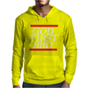 NEW__God_First_Bro__T_Shirt_Religious_Humor_Lord_Tee Mens Hoodie