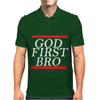 NEW__God_First_Bro__T_Shirt_Religious_Humor_Lord_Tee Mens Polo