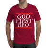 NEW__God_First_Bro__T_Shirt_Religious_Humor_Lord_Tee Mens T-Shirt