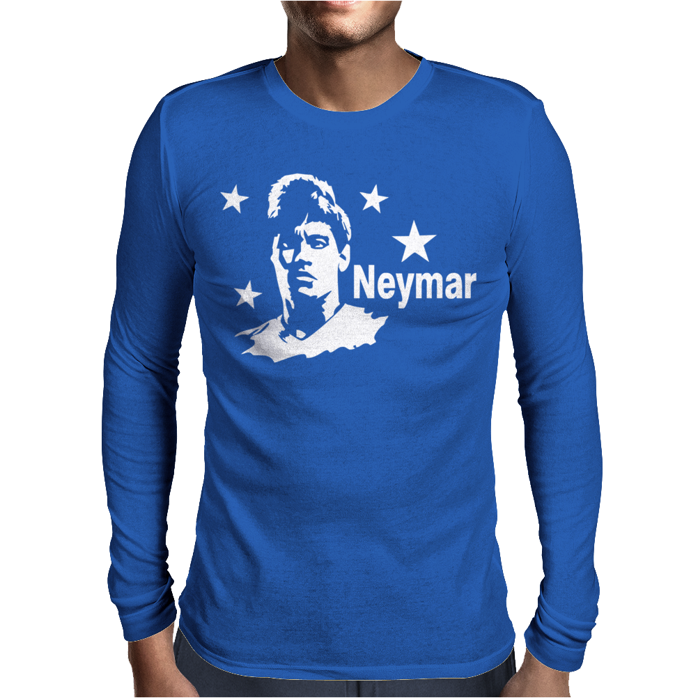 Neymar Soccer World Star Mens Long Sleeve T-Shirt