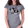 Nightmare before Christmas Mickey & Minnie as Jack & Sally Womens Fitted T-Shirt