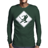 Ninja Crossing Mens Long Sleeve T-Shirt