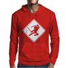 Ninja Crossing Sign. Mens Hoodie
