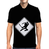 Ninja Crossing Sign. Mens Polo
