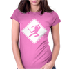Ninja Crossing Sign. Womens Fitted T-Shirt