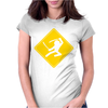 Ninja Crossing Sign Womens Fitted T-Shirt