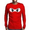 Ninja Mask Eyes Martial Arts Novelty Mens Long Sleeve T-Shirt