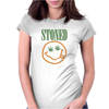 NIRVANA STONED SMILEY FACE MARIJUANA Womens Fitted T-Shirt