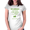 No animals harmed Womens Fitted T-Shirt