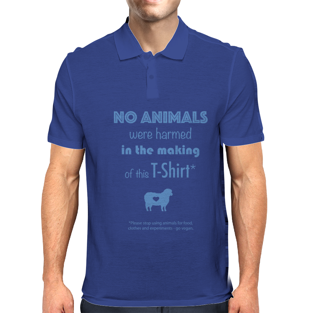 No Animals were harmed Mens Polo