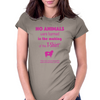No animals were harmed Womens Fitted T-Shirt