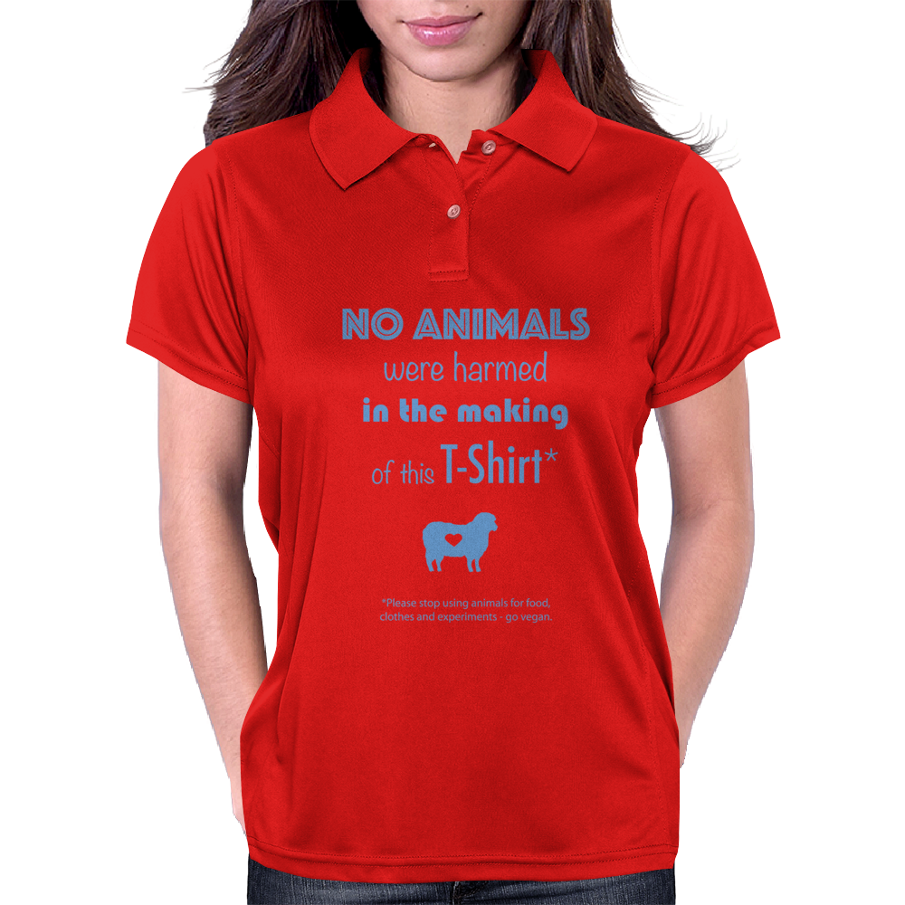 No Animals were harmed Womens Polo