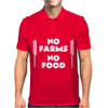 No Farms No Food Mens Polo