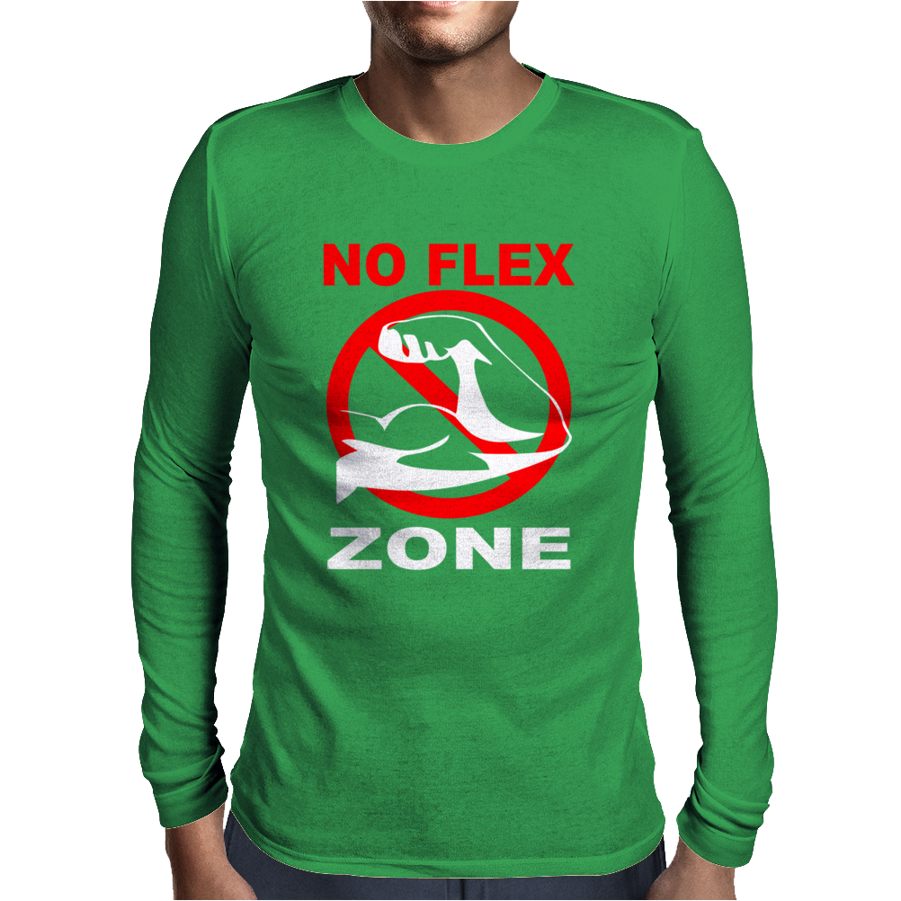 No Flex Zone Arm Gym Workout Mens Long Sleeve T-Shirt