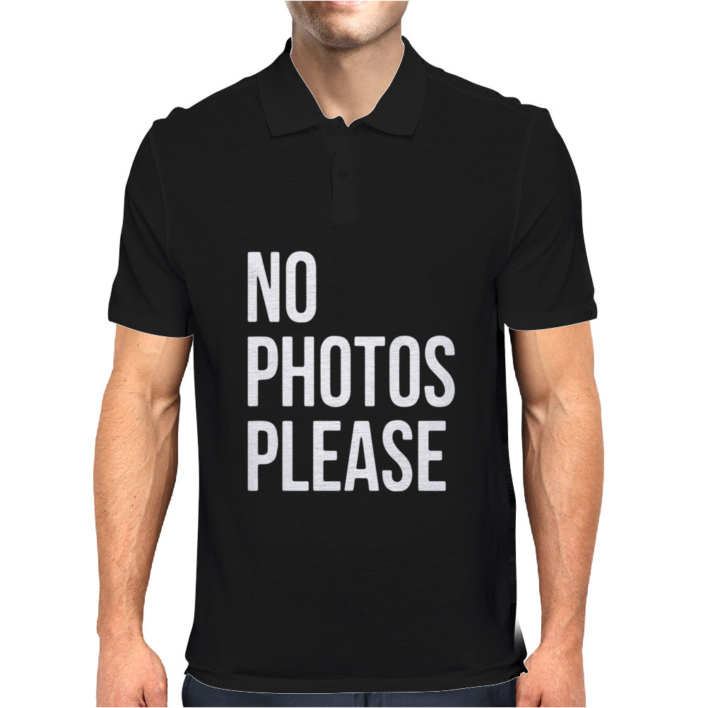 No Photos Please Mens Polo