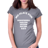 No Place For Homophobia Sexism Racism Hate Womens Fitted T-Shirt