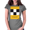 No002 My Taxi Driver minimal movie car poster Womens Fitted T-Shirt