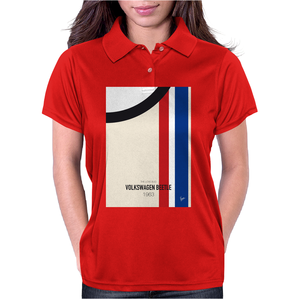 No014 My HERBIE minimal movie car poster Womens Polo