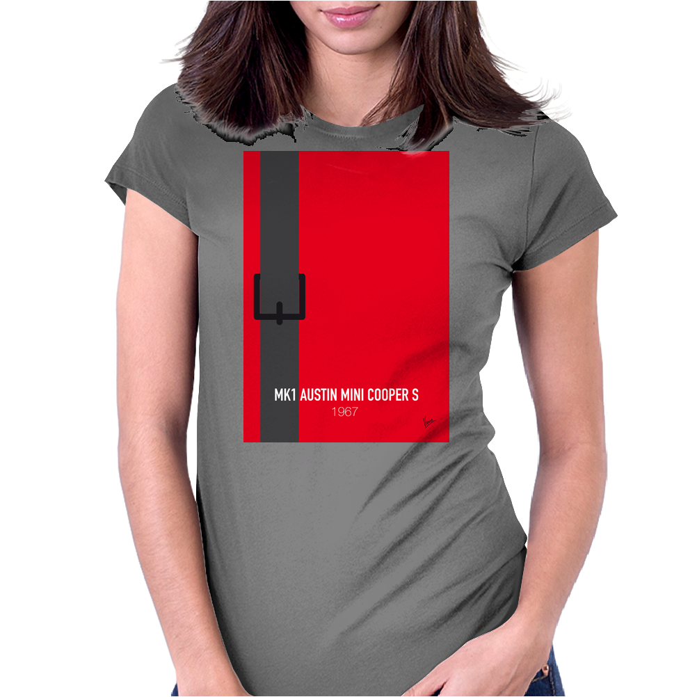 No018 My The Italian Job minimal movie car poster Womens Fitted T-Shirt