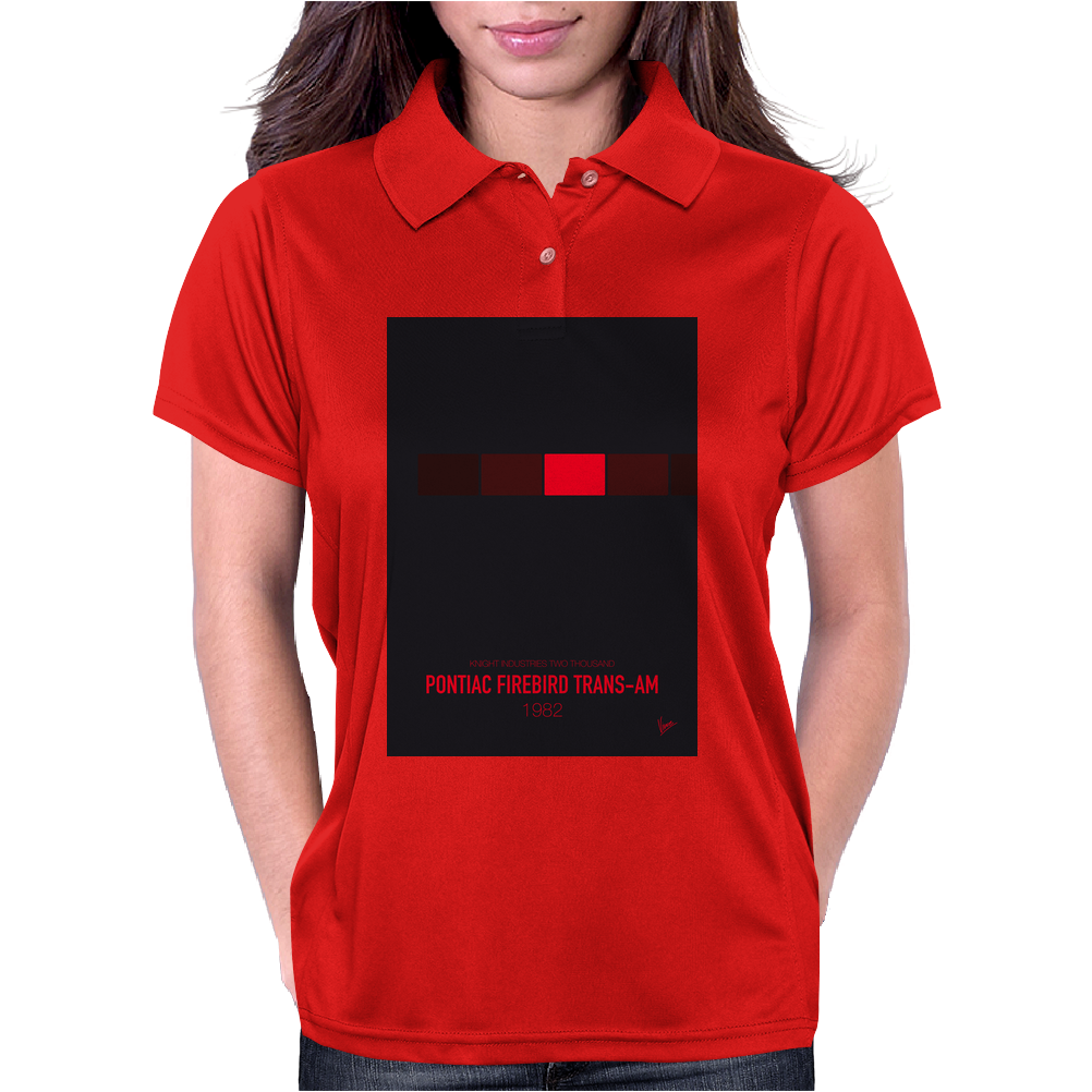 No019 My Knight Rider minimal movie car poster Womens Polo