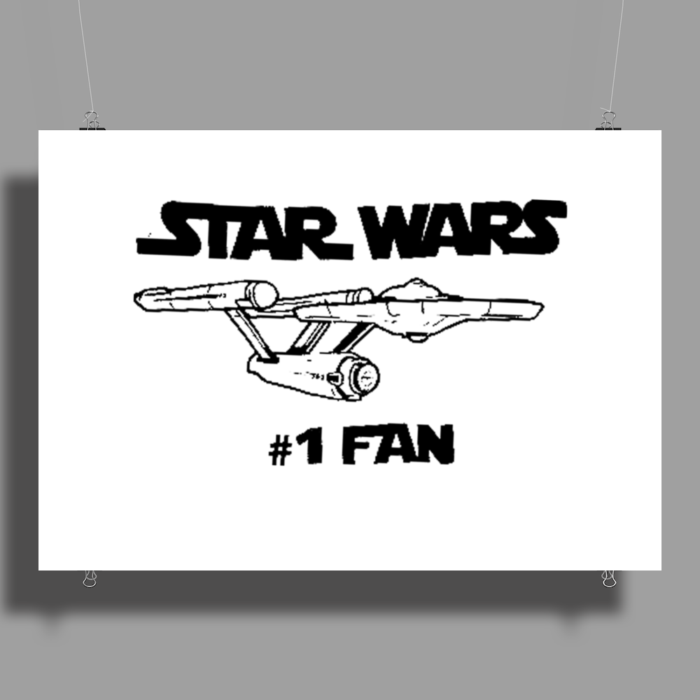 No.1 Fan Star Wars Force Awakens Poster Print (Landscape)