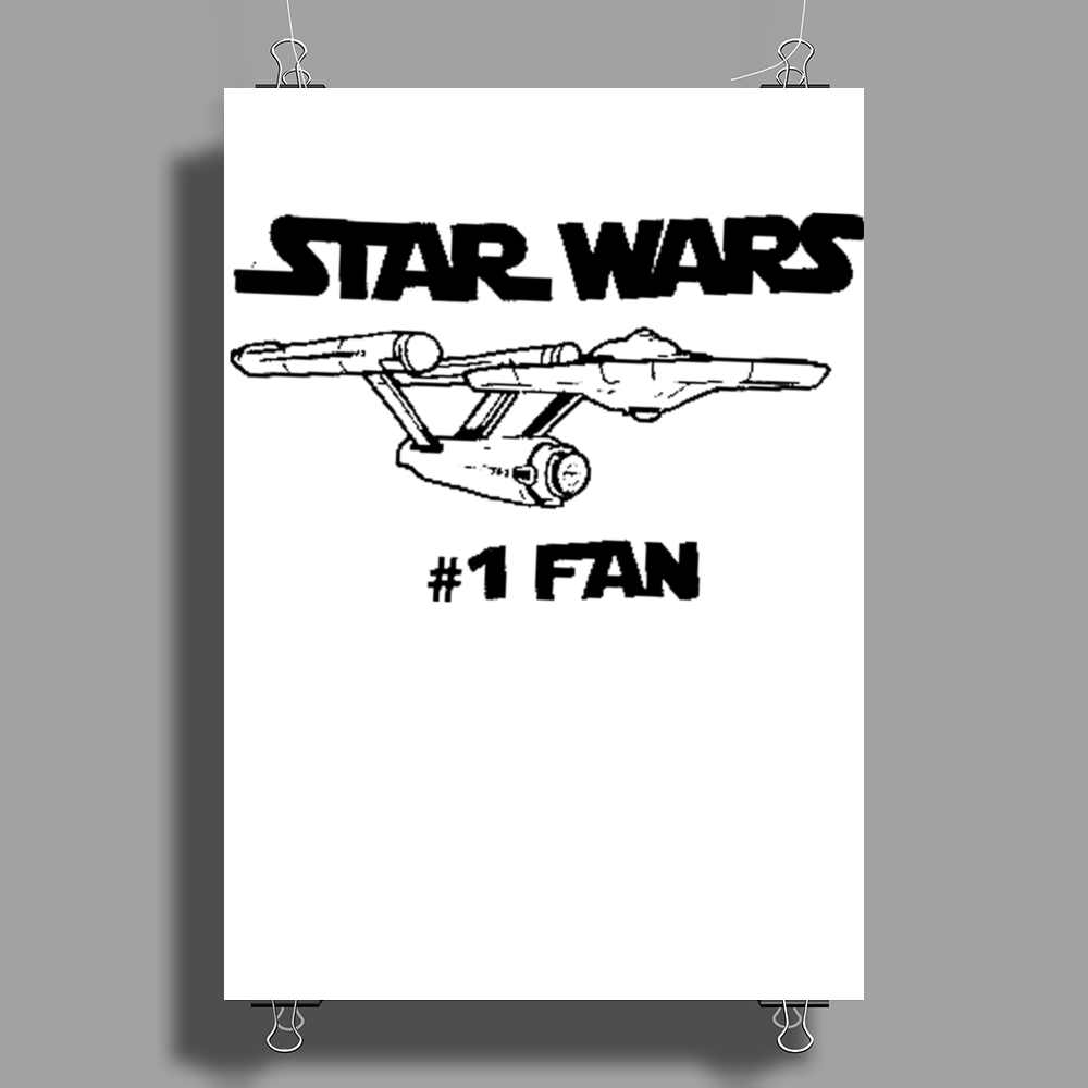 No.1 Fan Star Wars Force Awakens Poster Print (Portrait)