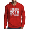 NOBODY FOR PRESIDENT TRY FREEDOM ANARCHY Mens Hoodie