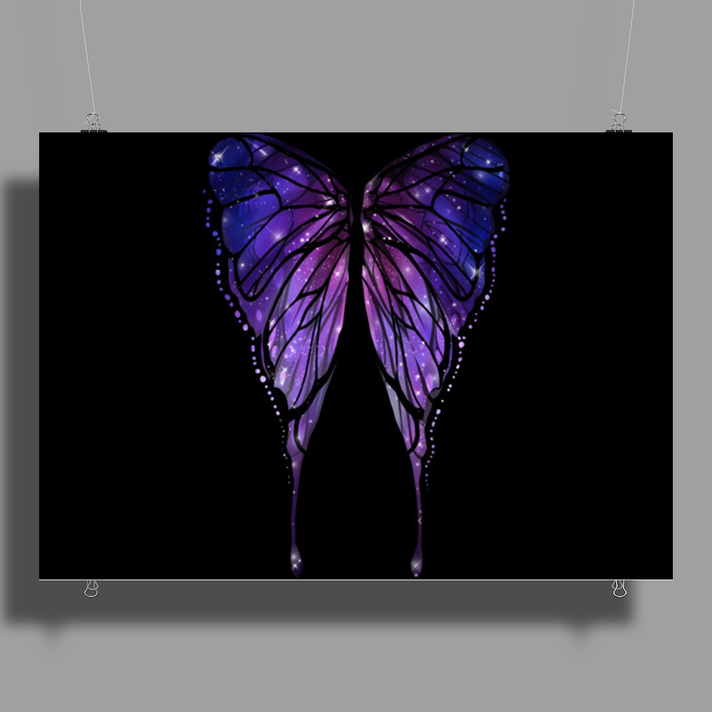 Nocturnal Butterfly Poster Print (Landscape)