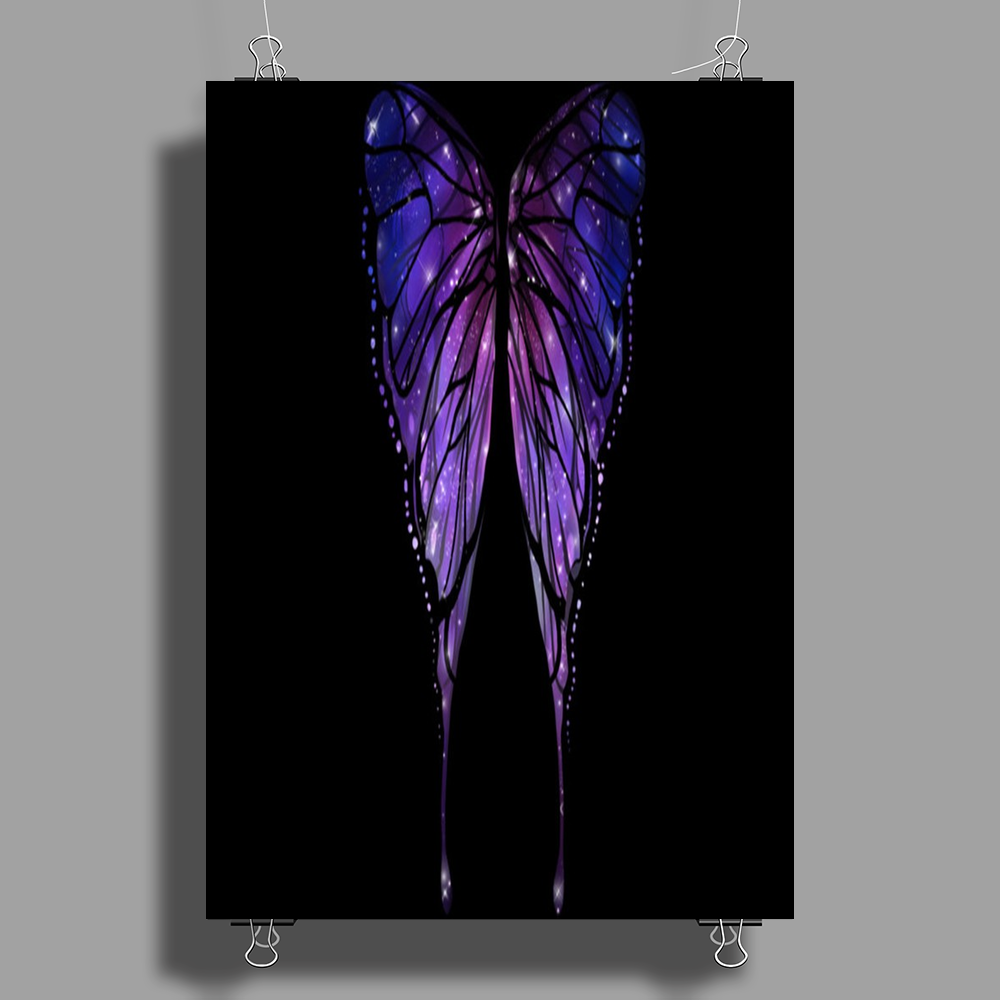 Nocturnal Butterfly Poster Print (Portrait)